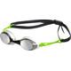 arena Cobra Mirror Okulary pływackie zielony/czarny
